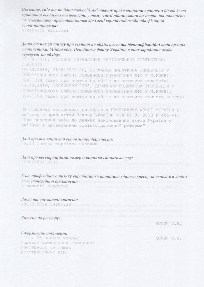 Registry 2nd page in Ukrainian